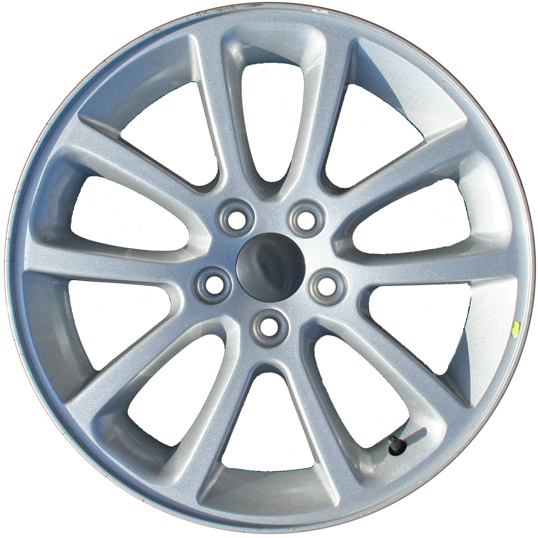 2007-2011 Ford Edge  18x7.5 Aluminum Alloy Wheel, Rim Sparkle Silver Full Face Painted - 3674