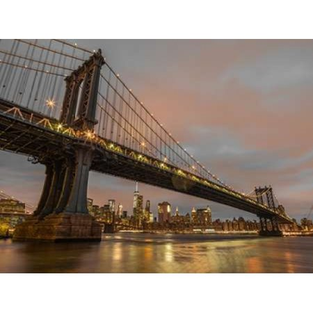 Manhattan bridge and New York city skyline Poster Print by  Assaf Frank