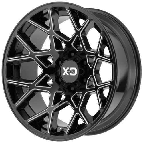 KMC-XD Wheels XD83121068324N XDWXD83121068324N CHOPSTIX 20x10 6x139.70 GLOSS BLACK MILLED (-24 mm)