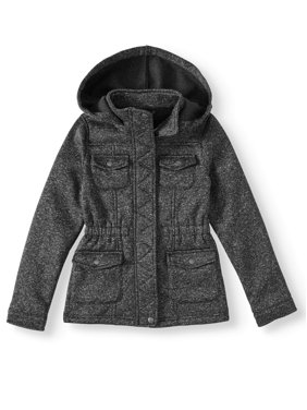 BHIP Girl'sMelange Fleece Anorak Jacket (Little Girls & Big Girls)