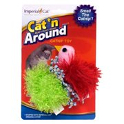 Imperial Cat 01158 Bird and Ball Catnip Toy Duo Cat n Around Toys - on Hang Card