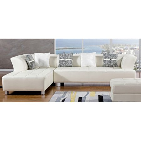 American Eagle Furniture Aventura Sectional Sofa With Ottoman