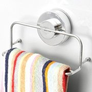 Stainless Steel Kitchen Bathroom Lavatory Suction Cup Shelf Rack With Towel Bar