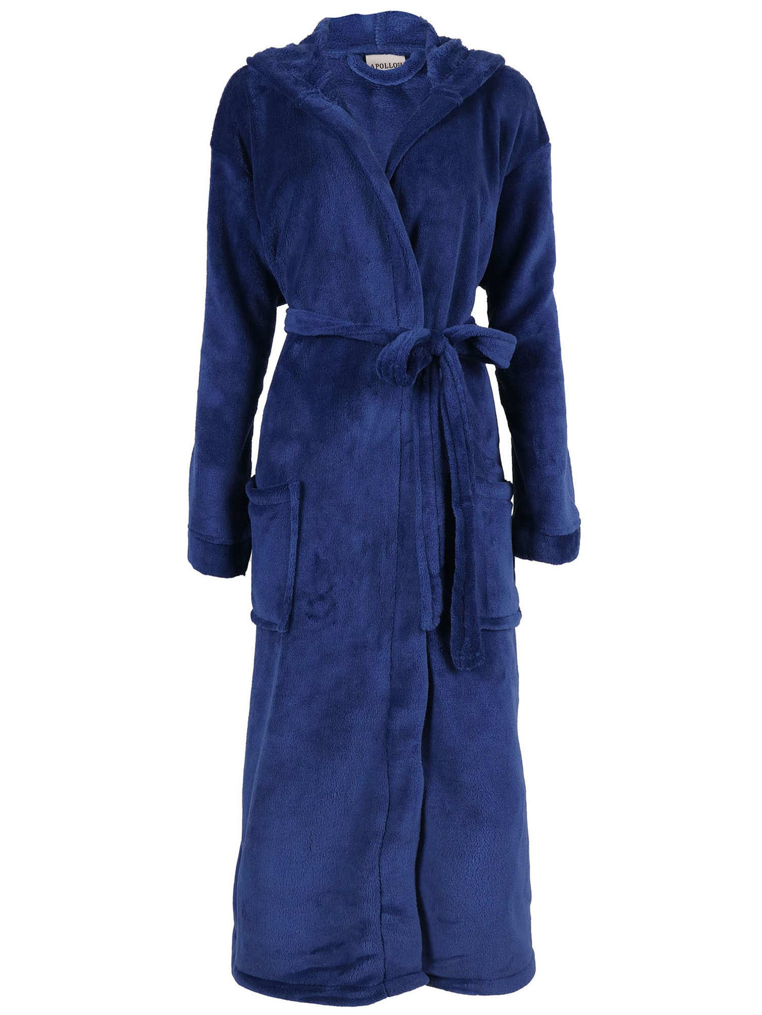 Wanted Mens Bathrobe Hooded Robe Plush Micro Fleece with Front Pockets