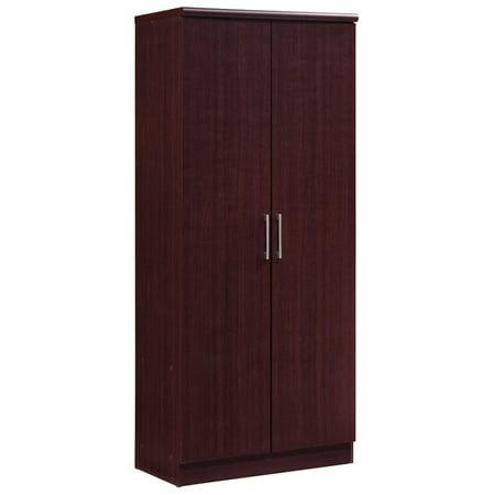 Hodedah 2 Door Armoire with 4 Shelves in Mahogany - image 6 de 6