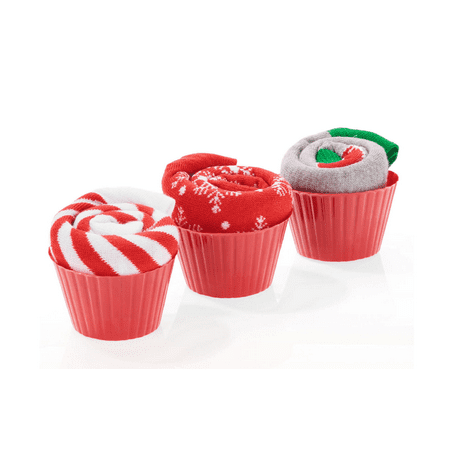 christmas socks 3 pack cupcake gift set - Walmart Christmas Socks