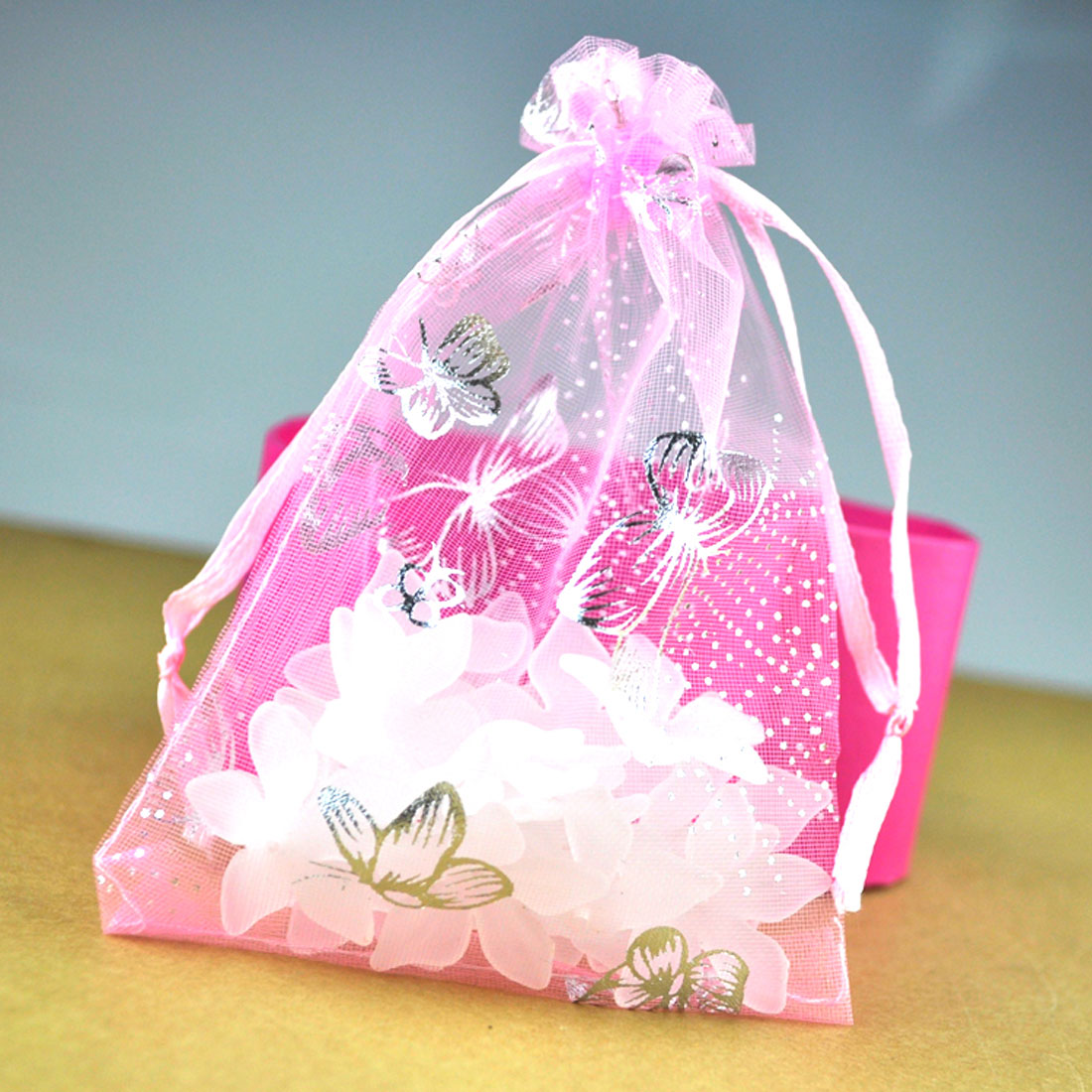 25pcs Organza Gift Bags Drawstring Wedding Favor Pouches Jewelry ...