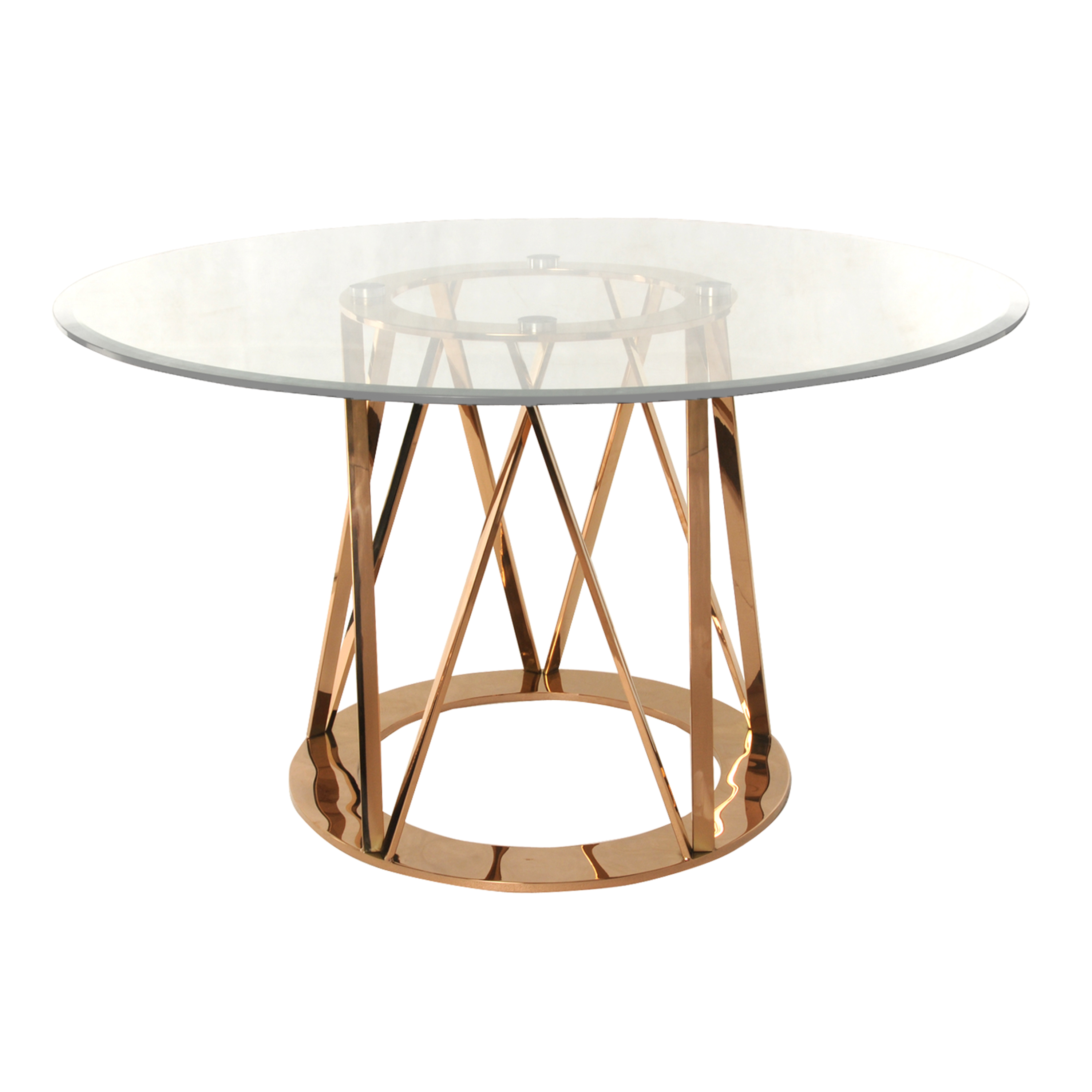 Rolin Round Dining Table, Rose Gold by NPD