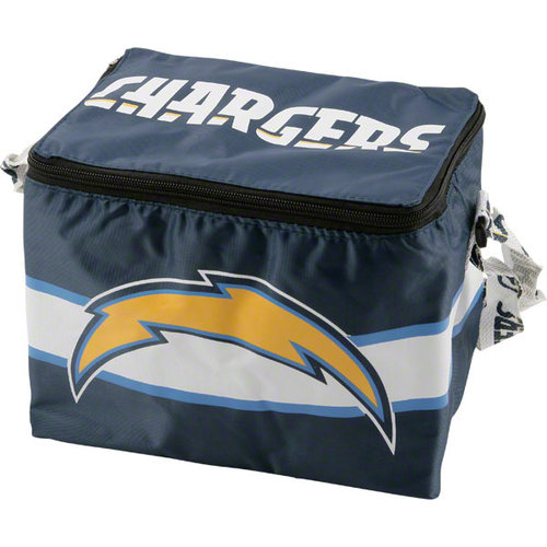 NFL - San Diego Chargers Lunch Bag: 6 Pack Zipper Cooler