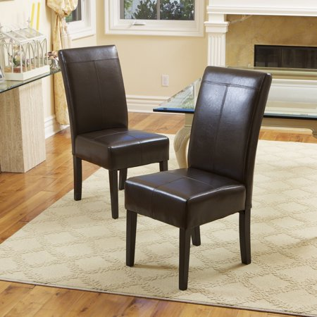 Christopher Knight Home T-stitch Chocolate Brown Bonded Leather Dining Chair (Set of 4) by ()