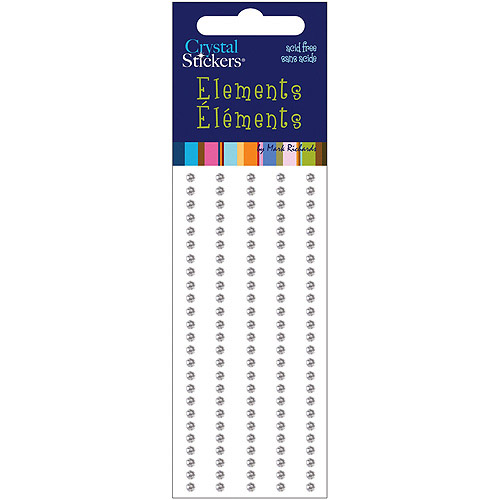 Crystal Stickers Elements, 3mm, Round, 125pk