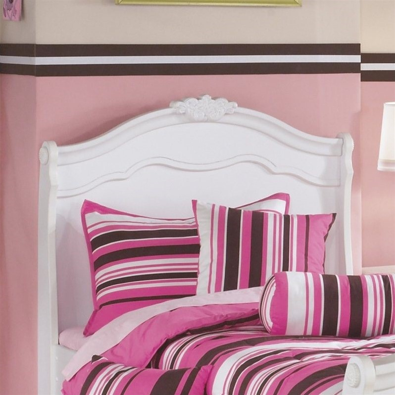 Signature Design by Ashley Furniture Exquisite Sleigh Headboard in White-Twin
