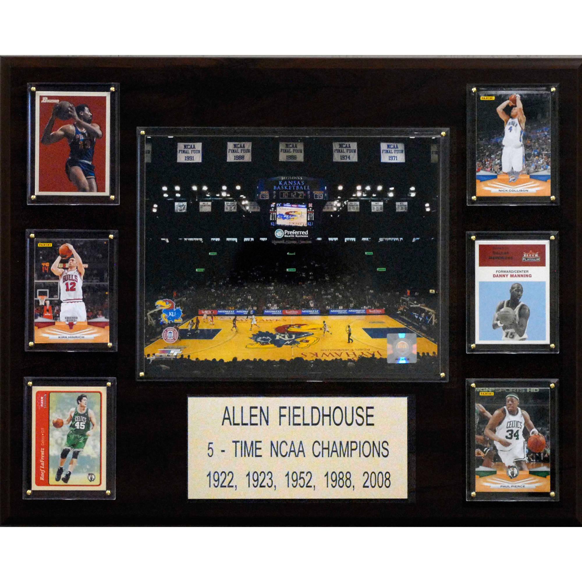 C&I Collectables NCAA Basketball 16x20 Allen Fieldhouse Arena Plaque