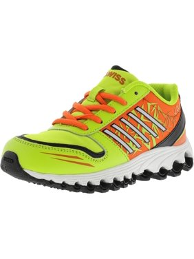 K-Swiss Boy's X-160 Low Lime Punch / Safety Orange Black Ankle-High Training Shoes - 4.5M