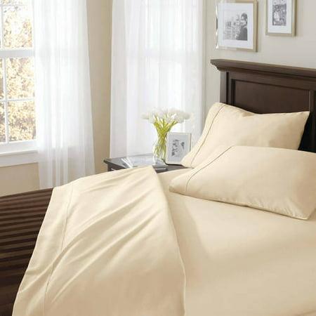 Sure Grip Cotton (Better Homes & Gardens Egyptian Cotton 400 Thread True Grip Solid Bed Sheet Set, 1)