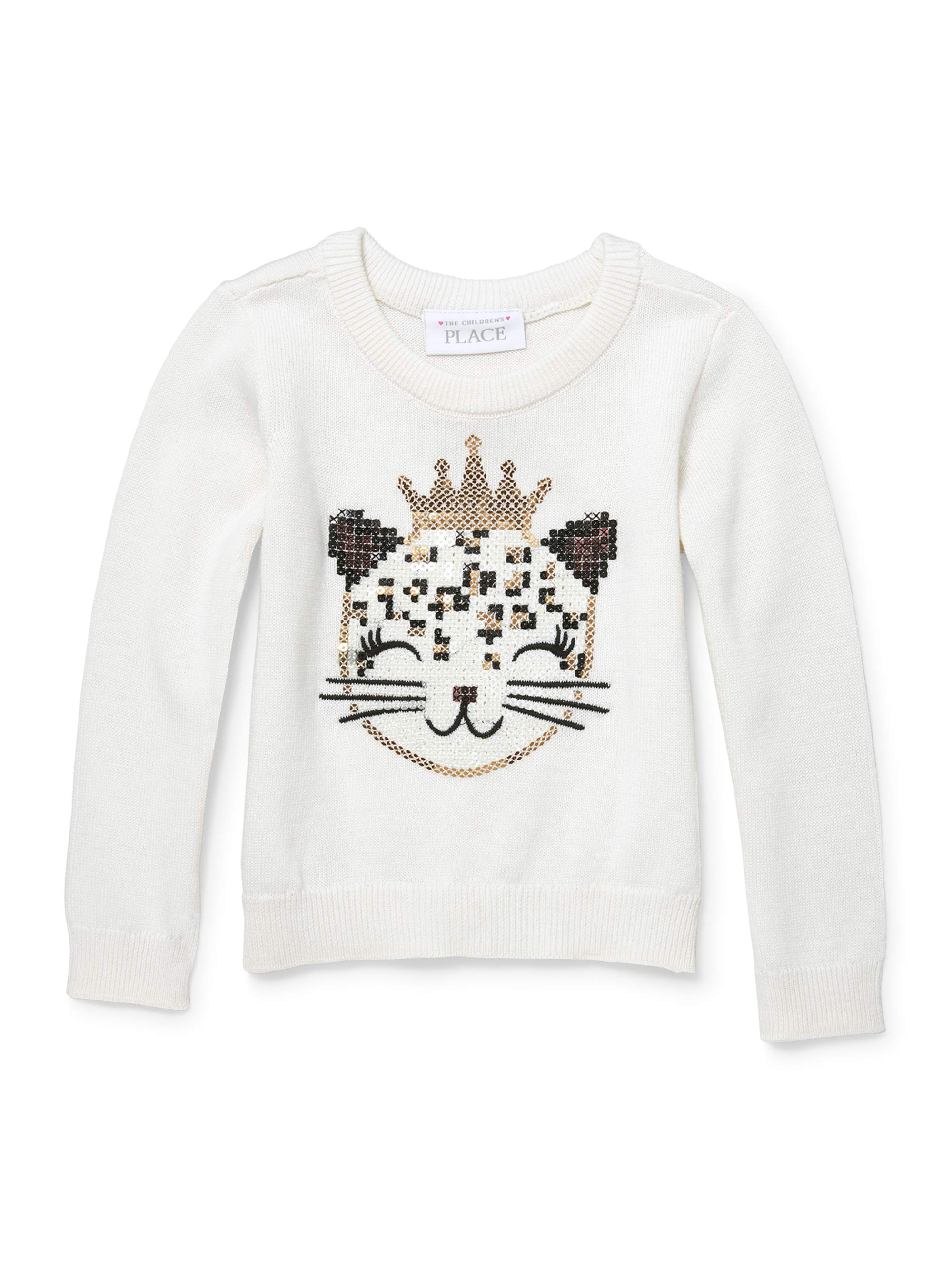 The Children's Place Long Sleeve Graphic Crew Neck Sweater (Toddler Girls)