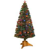product image 72 fiber optic fireworks tree with ball ornaments