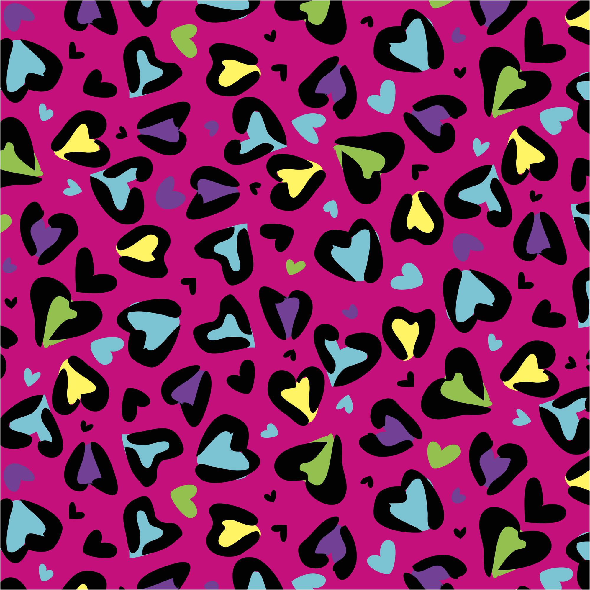 "Wild Love Fuschia Antipill Fleece Fabric By The Yard, 60"" Wide"