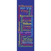 Banner-Welcome-World (2' x 6') (Indoor)
