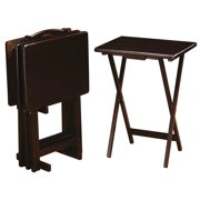 A Line Furniture Casual 4-piece Tray Table Set with Stand