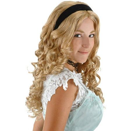 Disney Alice in Wonderland Adult Halloween Wig and Headband](Wonderland Wigs)