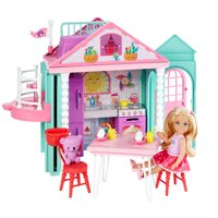 Barbie Club Chelsea Playhouse, 2-Story Dollhouse with Chelsea Doll