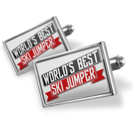 Cufflinks Worlds Best Ski Jumper - NEONBLOND