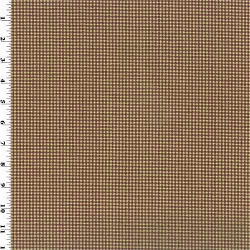 "3/16"""" Burgundy Red Gingham Print Home Decorating Fabric, Fabric By the Yard"
