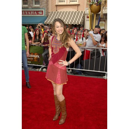 Miley Cyrus At Arrivals For Pirates Of The Caribbean Dead ManS Chest Premiere Disneyland New York Ny June 24 2006 Photo By Michael GermanaEverett Collection