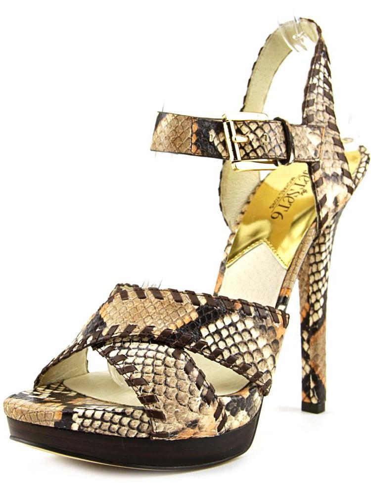 Michael Michael Kors Odessa Sandal   Open-Toe Leather  Heels
