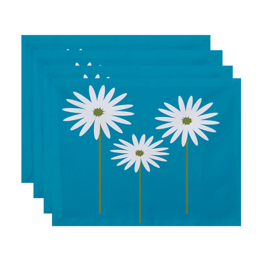 e by design Daisy May Floral Placemat (Set of 4)