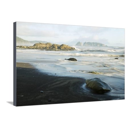 Wa, Olympic National Park, Rialto Beach, Sea Coast, with James Island Stretched Canvas Print Wall Art By Jamie And Judy (Homes For Sale In City Beach Wa)
