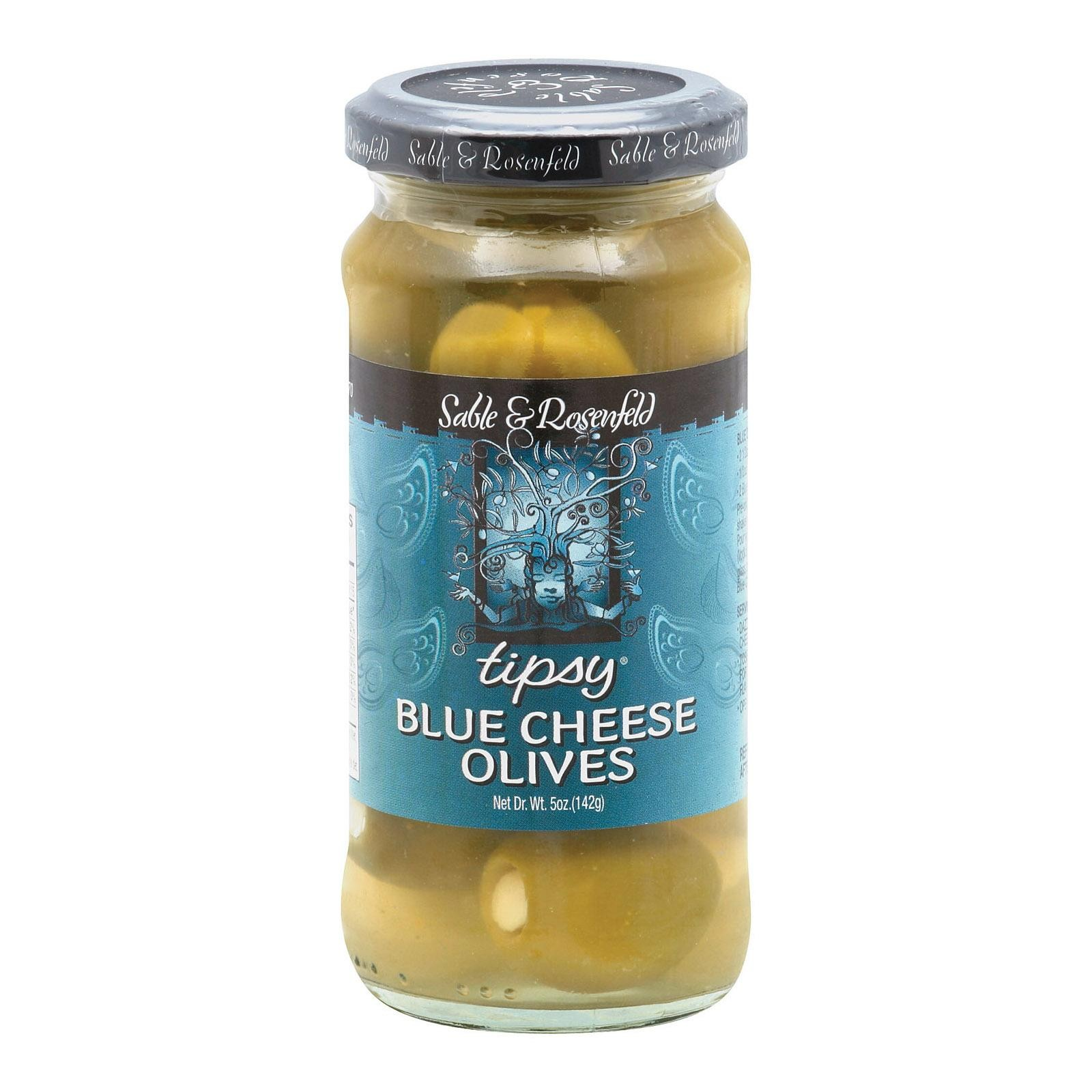 Sable And Rosenfeld Tipsy Olives - Blue Cheese - Pack of 6 - 5 Oz.