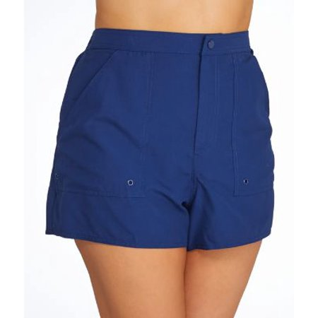 Maxine of Hollywood Plus Size Solid Woven Boardshort ()