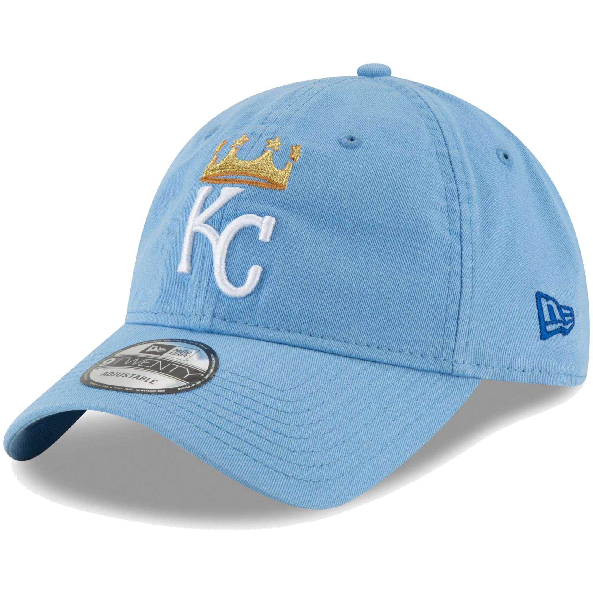 Kansas City Royals New Era Core Classic 9TWENTY Adjustable Hat - Light Blue - OSFA