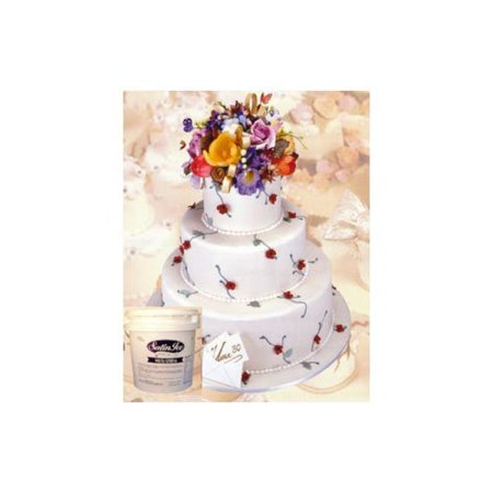 Satin Ice White Rolled Fondant Icing -20 Pounds Pail