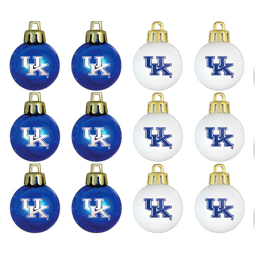 Topperscot NCAA Kentucky Wildcats Ornament Set, Set of 12