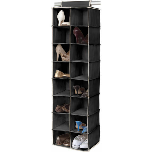 Simplify 16-Pocket Shoe Organizer, Multiple Colors