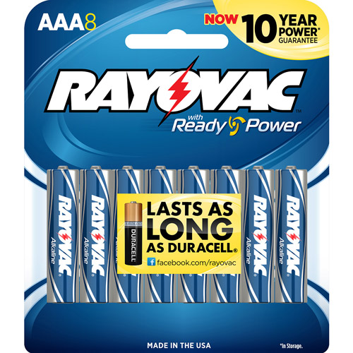 Rayovac Alkaline Multi-Pack AAA Batteries, 8-pack