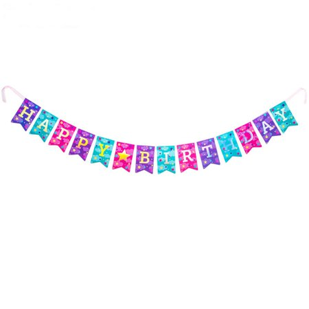 Unicorn Happy Birthday Banner Party Supplies Decoration