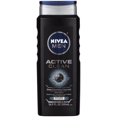 (2 pack) NIVEA Men Active Clean Body Wash 16.9 fl.