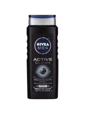 (2 pack) NIVEA Men Active Clean Body Wash 16.9 fl. oz.