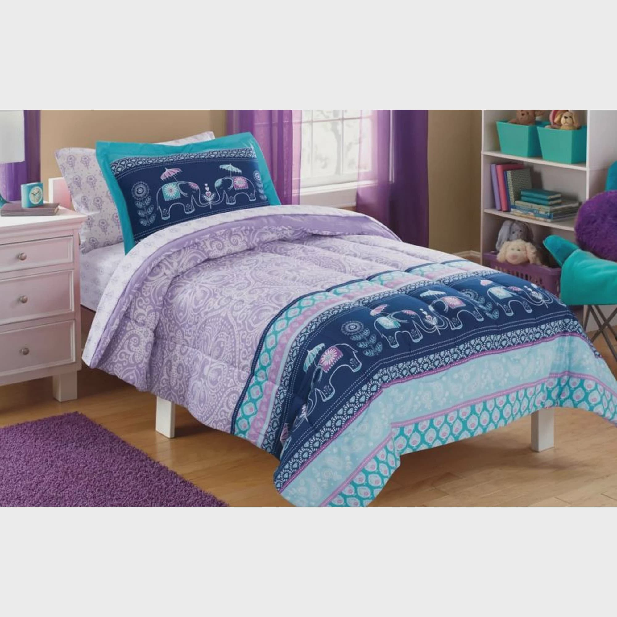 Mainstays Kids Elle Boho Bed in a Bag Complete Bedding Set by Keeco