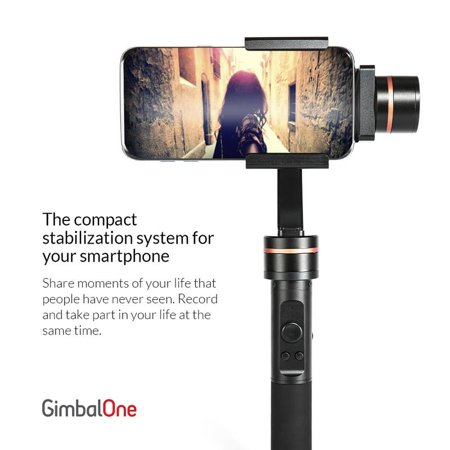 GimbalOne Smartphone Compact Steadicam 3-Axis Handheld Stabilizer Gimbal - Cinematic, Smart Motion Filming for All Smartphones Upto 7-Inches - image 6 de 9
