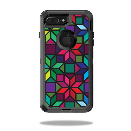 Skin For Otterbox Defender Iphone 8 Plus   Stained Glass Window  Mightyskins Protective  Durable  And Unique Vinyl Decal Wrap Cover    Easy To Apply  Remove  And Change Styles   Made In The Usa