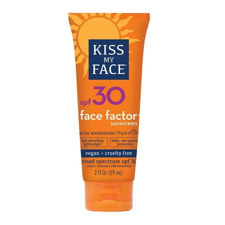 Kiss My Face Sunscreen Face Factor Face + Neck Protection SPF 30, 2.0 FL OZ