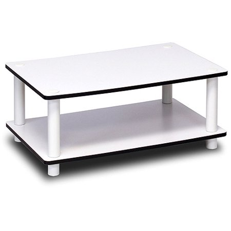 Furinno Just 2-Tier No-Tools Coffee Table, White](Center Table Decor)