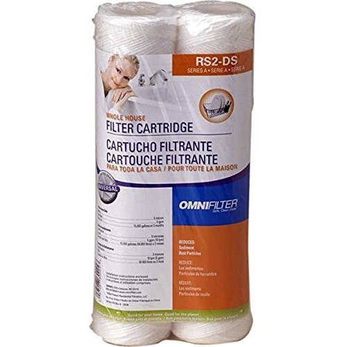 RS2DS OmniFilter Whole House Replacement Water Filter Cartridge, 2pk