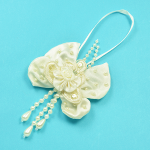 Expo Bridal Flower Bow with Dangles Ornament Applique