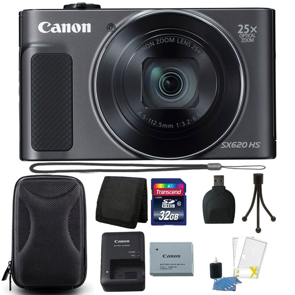Canon PowerShot SX620 HS 20.2MP 25X Zoom WIFI Digital Camera with 32GB...